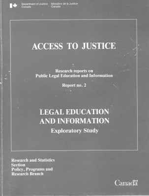 Legal Education and Information. Exploratory Study